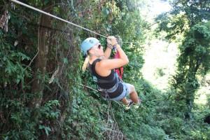 Gårsdagens utfordring; ziplining