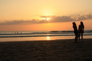 Solnedgang på Playa Jaco
