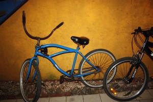 En av fem sykler som hostellet låner ut til gjestene